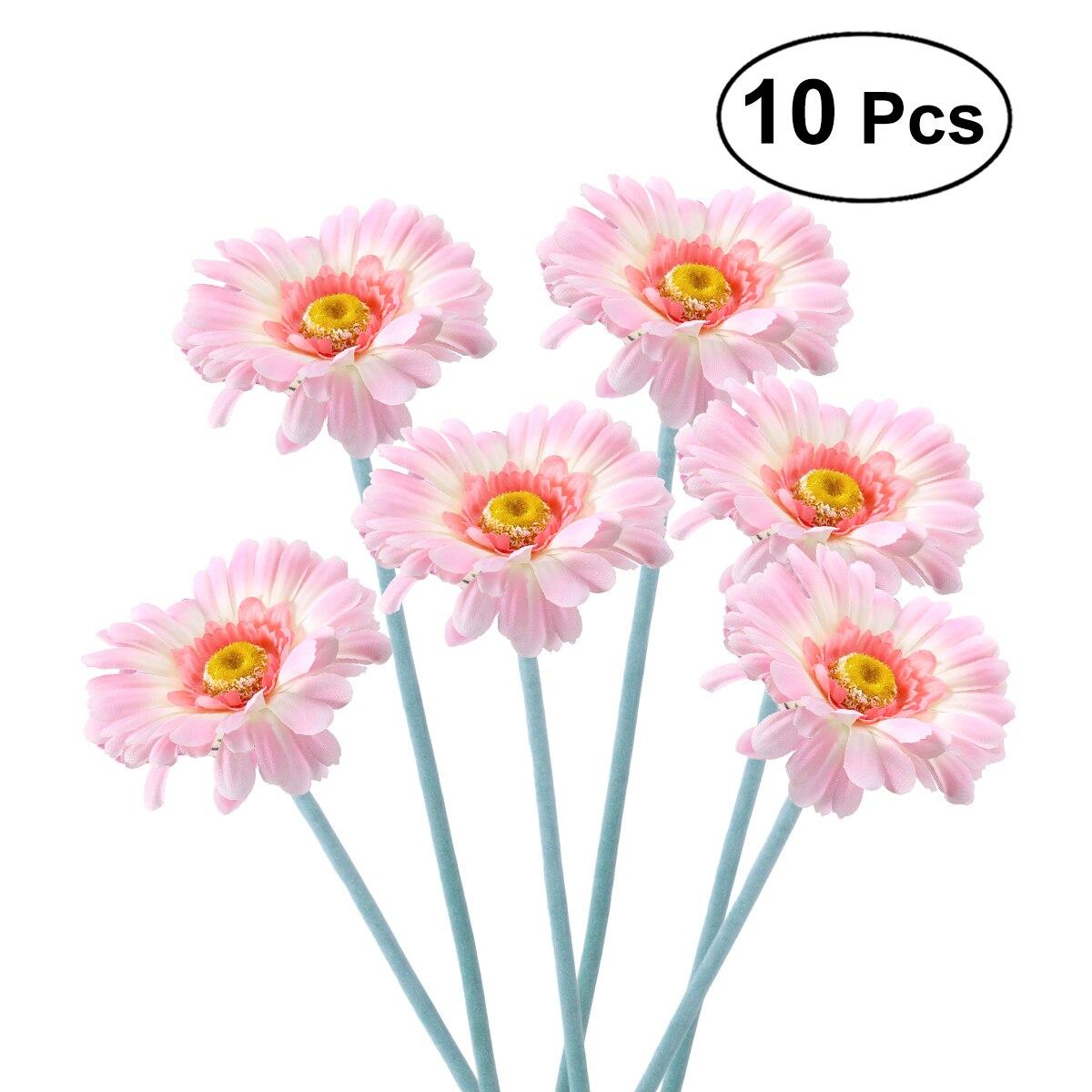 10pcs Artificial Sunflower Plastic Fake Gerbera Bunch For Home ...