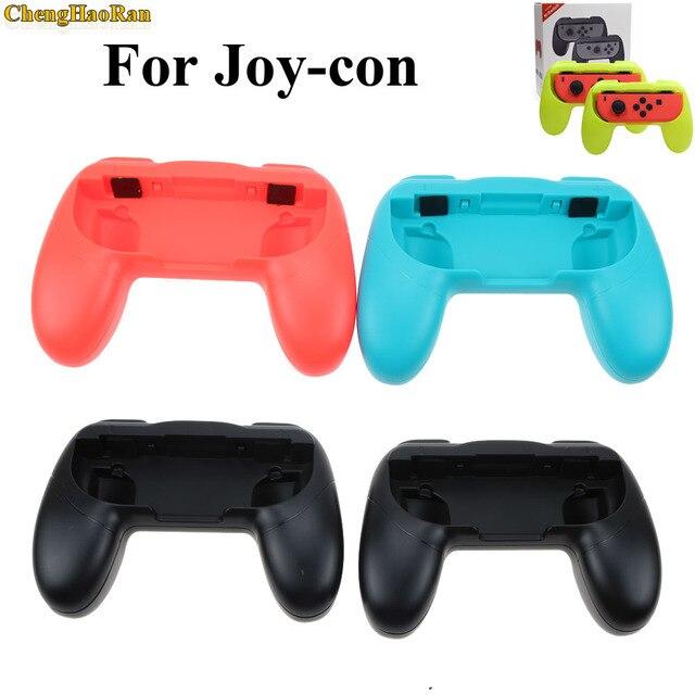2 قطعة ل Nntend التبديل ABS المقود قبضة مقبض Joypad حامل حامل ل Nintend التبديل NS يسار يمين الفرح يخدع Joycon تحكم