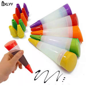 BXLYY 1pc Silicone Food Writing Pen Cake Decorating Tools Chocolate Biscuits Frosting Pipe Pastry Nozzle Kitchen Accessories.7z
