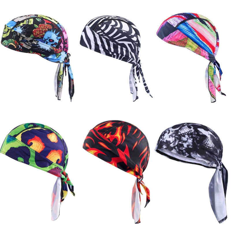 Outdoor Outdoor Sports Quick Dry Cycling Cap Headscarf Headband Bicycle Cap Men Riding Bandana Pirate Hat