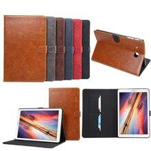 Caso de Cuero de lujo de LA PU para Samsung Galaxy Tab 9.6 E T560 T561 Tirón Smartcover para Galaxy Tab Tableta de Negocios E 9.6 T560