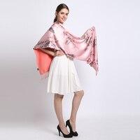 [長いスカーフ] 100%シルクサテンベルベットロングスカーフ純粋な絹のファッション新しい房ショール暖かい冬の女