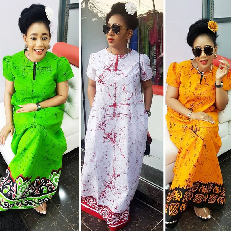 2019 African Women Clothing Fashion Africaine Robe Short Sleeve Printing Long Loose Stripe Maxi Dress Africa Clothes