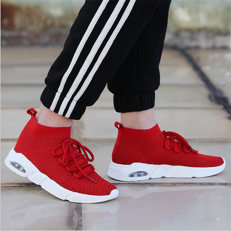 VIXLEO 2018 Lovers Men Running Shoes For Women Fly line knitting Socks Sport Shoes Man Brand Breathable Womens Sneakers 38-46