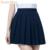 Japonés 2017 nueva marca chicas colegialas faldas plisadas falda uniformes cos macarons cintura plisado sólido falda femenina multicolor