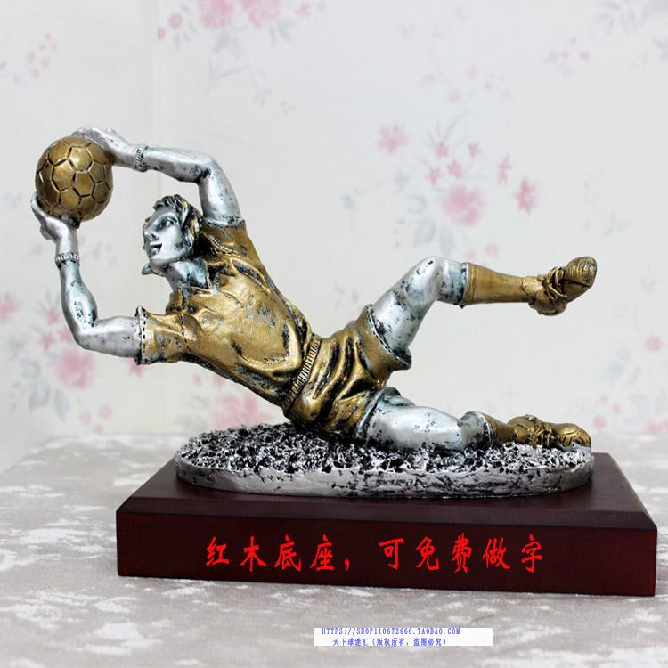 2016 soccer football GOALKEEPER World cup best Goal keeper trophy best goalkeeper new style blue ribbon 45 cm english premiership trophy cup barcley premiership cup cup soccer football replica trophy cup