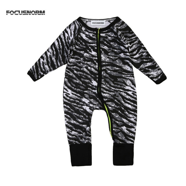 a0bcfe2d3 New In Cute Cotton Newborn Infant Baby Boys Zebra Jumpsuit Outfit ...