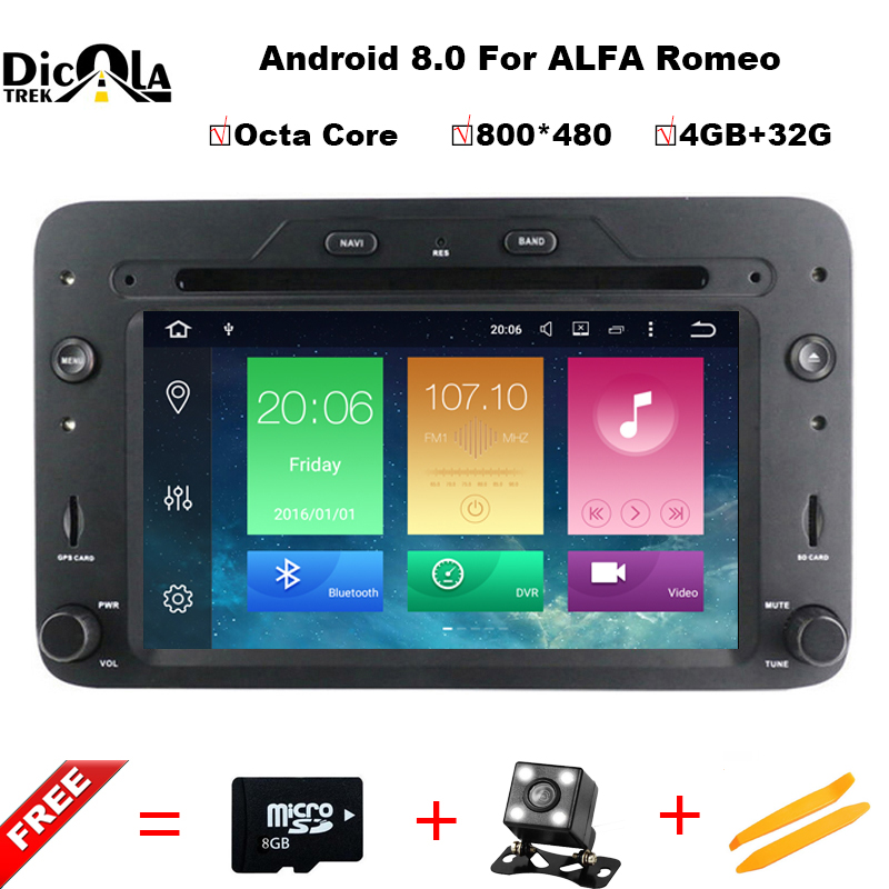Octa Core 4G+32G ROM Android 8.0 Car DVD GPS for Alfa Romeo 159 Sportwagon Spider Brera with BT Wifi Radio;support 4G DVR DAB+ ownice c500 4g sim lte octa 8 core android 6 0 for kia ceed 2013 2015 car dvd player gps navi radio wifi 4g bt 2gb ram 32g rom