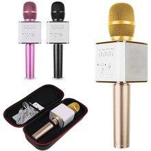 Q9 Беспроводной Bluetooth Стерео Переносной Мини Микрофон Караоке Проигрыватель для iphone7 Микрофоны Микрофон Динамик