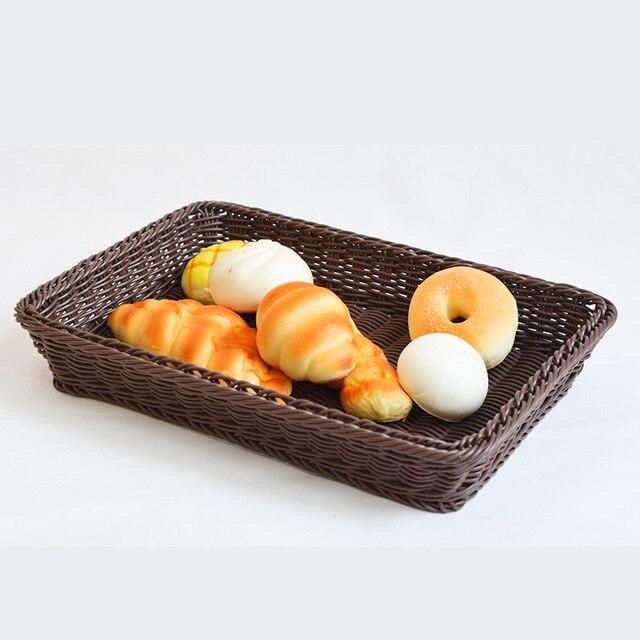 vente chaude de stockage paniers en rotin travail manuel pain alimentaire fruits panier pour cuisine salle