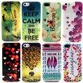 Caso, animal elefante / folha / coração / flor / Daisy padrão para iPhone 5S 5 5 G escudo do telefone móvel CSJK0218