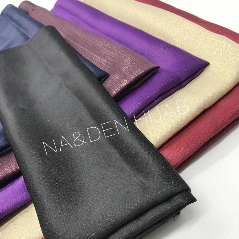 2019 NEW Fashion Women Pure Color Shimmer Scarf Tassels Border Chiffon Silk Scarves Muslin Hijab 10pcs/lot