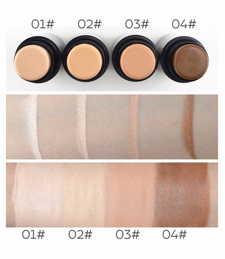 MIXIU Face Makeup Concealer Stick Long-wearing Waterproof Corrector And Brushes Highlighter Cream 4 Colors Concealer Pencil (4)