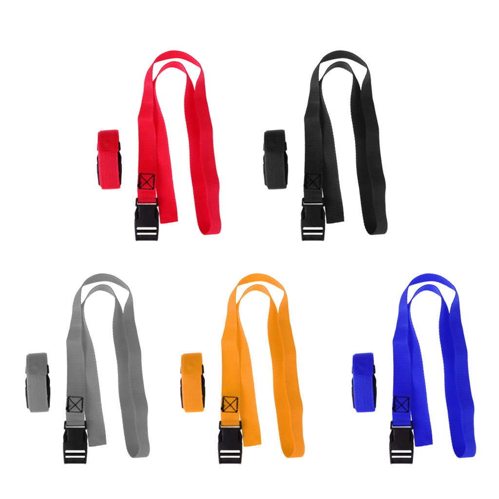 2pcs 1 Meter Golf Trolley Webbing Straps/Luggage Tie Down Straps With Quick Release Buckle For Securing Golf Bag To The Trolley