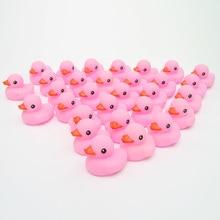 2018 новый набор Плавающие утки милый ребенок водные игрушки для ванной розовый Rubber duck Duck Классические игрушки подарок для маленьких мальчиков и девочек