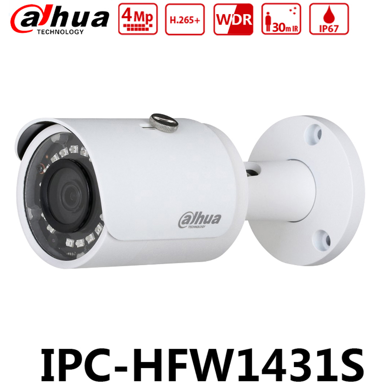 10 Pieces / Lot Dahua Original IPC-HFW1431S 4MP IP67 Mini-Bullet Camera WDR IR30m Replace IPC-HFW1320S with LOGO10 Pieces / Lot Dahua Original IPC-HFW1431S 4MP IP67 Mini-Bullet Camera WDR IR30m Replace IPC-HFW1320S with LOGO