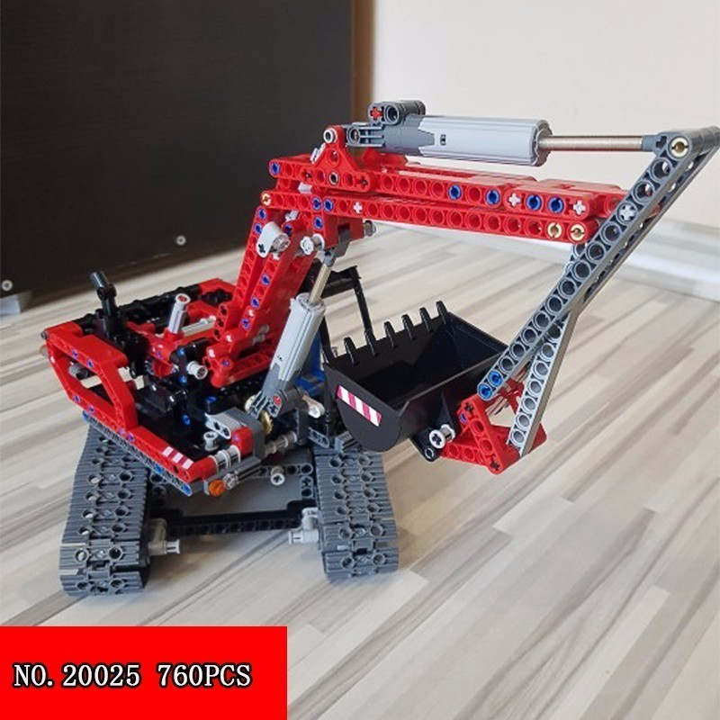 Nuevo bloque 760 piezas serie Ciencia y Tecnología 20025 rojo excavación niños Alpinia 760 Uds. Estrella Pop casa Livi bloques de construcción compatibles Legoinglys amigos para niñas figuras de ladrillos juguetes educativos para niños