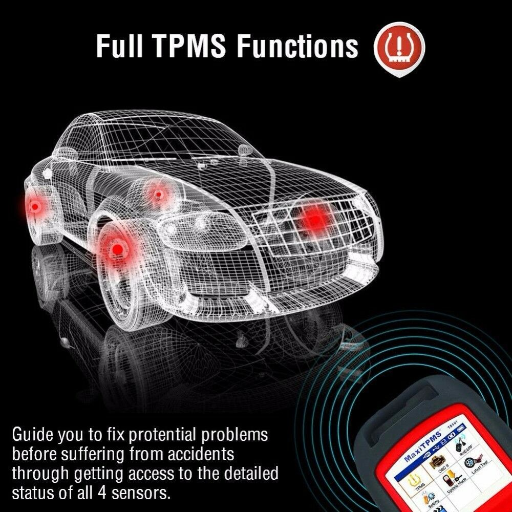 Image 2 - Autel MaxiTPMS TS601 OBDII Diagnostic Tool OBD2 Scanner TPMS Programmer Auto Code Reaser TPMS Monitor Tool 433MHz 315MHz Sensor-in Pressure & Vacuum Testers from Automobiles & Motorcycles