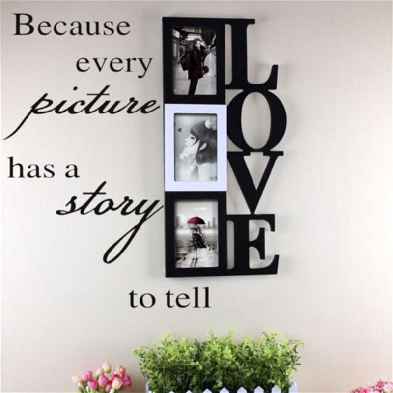 Because Every Picture has a story to tell vinyl wall stickers home decor wall decal 8093 decorative living room art