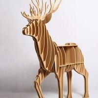 1 Set 8 Color Wooden Craft Home Furniture Deer Table Storage New Fashion Design For Art