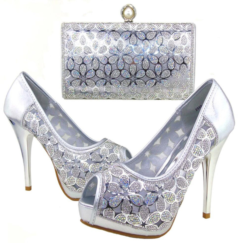 Fashion Woman Matching Shoes And Bag Set Italian For Party, High Quality Shoes And Bags Set for Wedding(Szie:37 or 43) HWE1-40 blanco elipso s ii grey beige