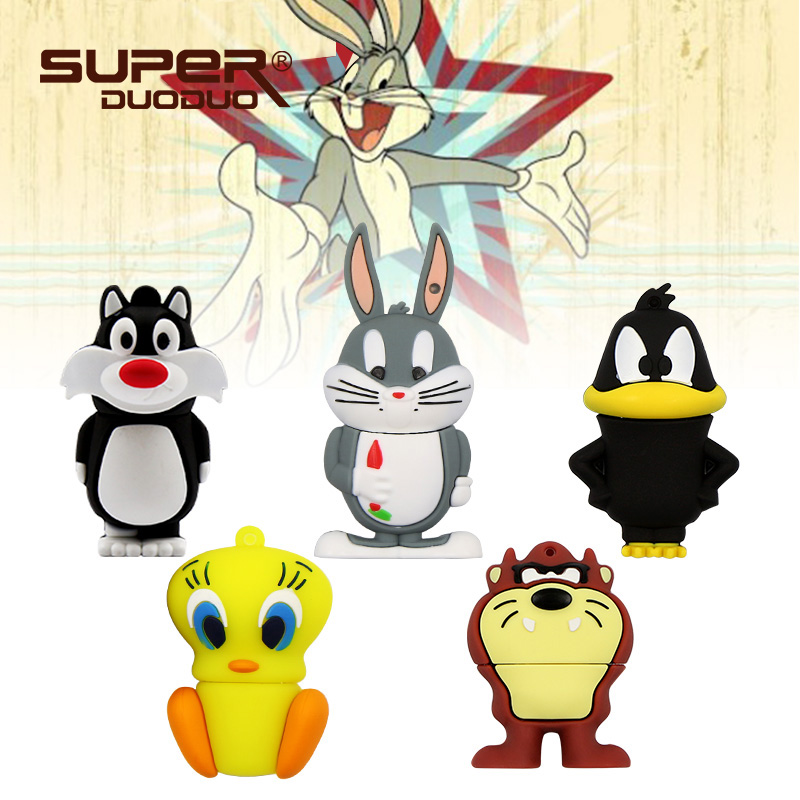 Have An Inquiring Mind Promotion Cat/rabbit/duck Pen Drive Silicone Usb Flash Drive 4gb/8gb/16gb/32gb/64gb Usb 2.0 External Storage Memory Stick U Disk Making Things Convenient For The People