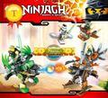 Especial ninjagoes b-damão mech building block zane ninja lloyd flintlocke dobrão mini blocos compatíveis com legoes para meninos