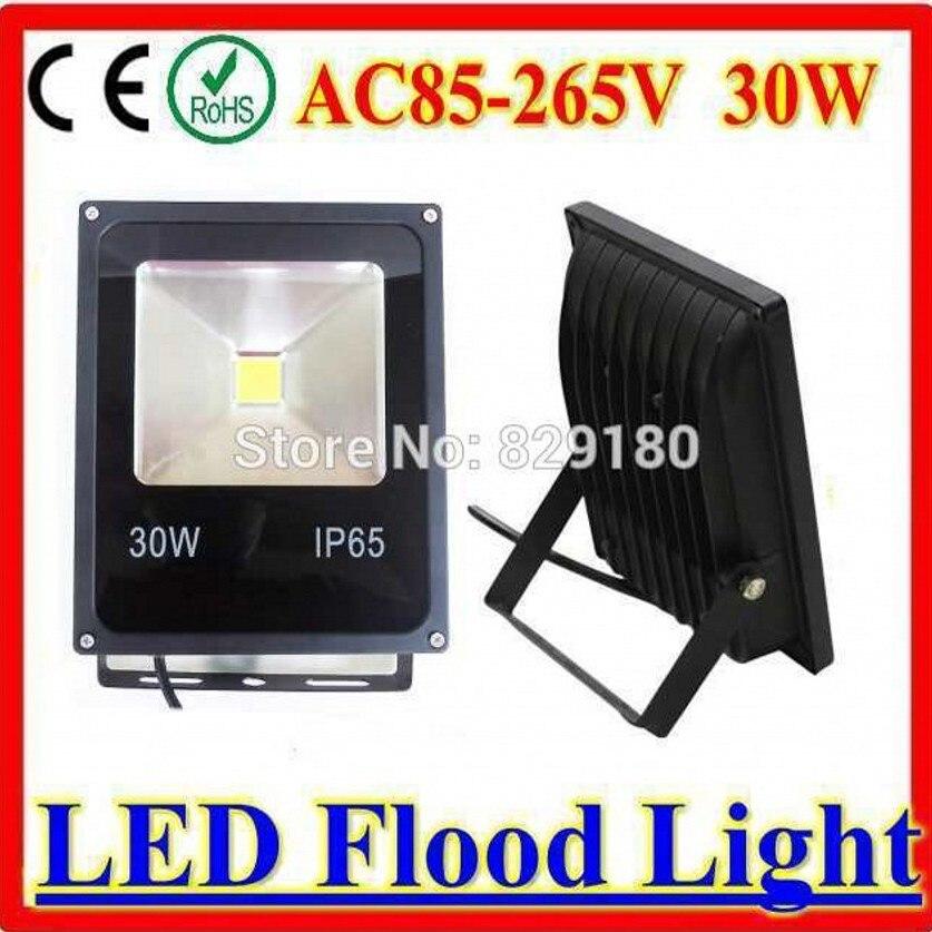 Luz LED de 30W Ultra brillante certificada CE reflector Solar de seguridad CA/DC12V 24V para exteriores-in Proyectores de luz from Luces e iluminación