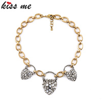 European Fshion Accessories Ms Luxury Crystal Heart Necklace Restoring Ancient Ways Factory Wholesale