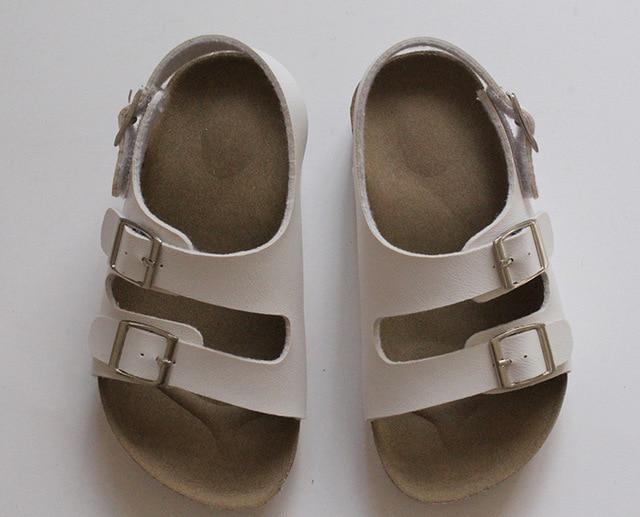 e166583d6a8f0 Mode allemagne enfants plage sandales garçon fille liège semelle enfant  sandales pour garçons chaussures décontractées été
