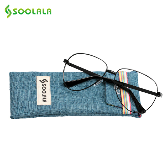 5451bc76ae SOOLALA Metal Reading Glasses Women Men Oversized Alloy Reader Eyewear  Hyperopia Reading Glasses +0.5 0.75 to 4.0