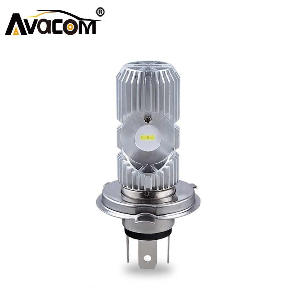 Avacom 1PCS LED HS1 H4 Motorcycle Headlight CSP 6500K 2400Lm 12V LED H4 BA20D Headlamp For Motorbike Scooter Phare Moto