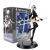 25cm NieR Automata YoRHa No. 2 Type B 2B Banpresto PVC Action Figure Collection Model Toy Doll Gifts For Kids