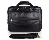 JMD Genuine Leather Fashion Design Black Color Business Briefcase Handbag Messenger Bag Men Shoulder Bag For