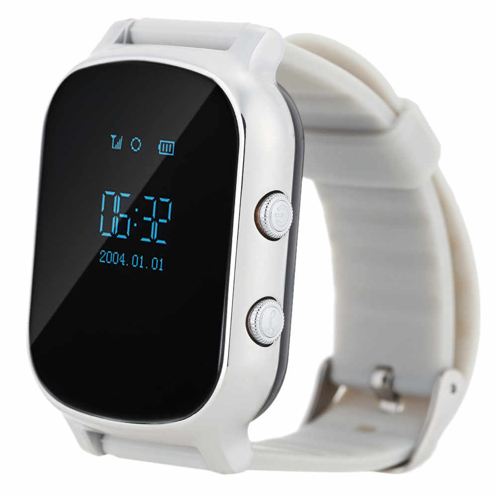 Hot Selling!!! GPS Kids old man Smart Watch T58 GPS WIFI SOS LBS Locate Finder Emergency Call SIM Card Smartwatch T58 For boys
