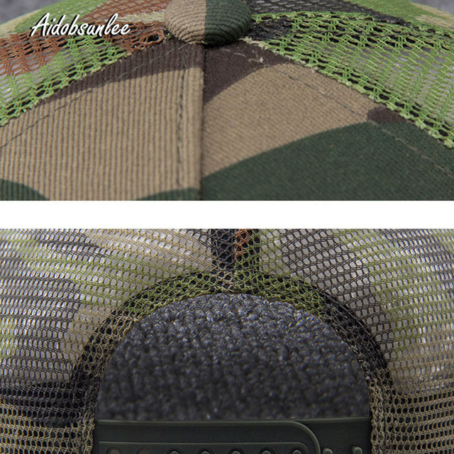 2017 New Arrival MEN'S HATS Men Camo Baseball Caps Mesh for Spring Summer Outdoor Camouflage Jungle Net Ball Base Army Cap Hot 4