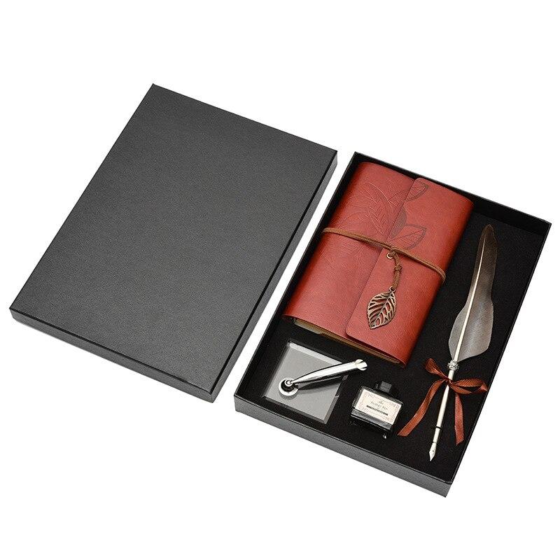 caderno conjunto requintado caixa de presente escrita