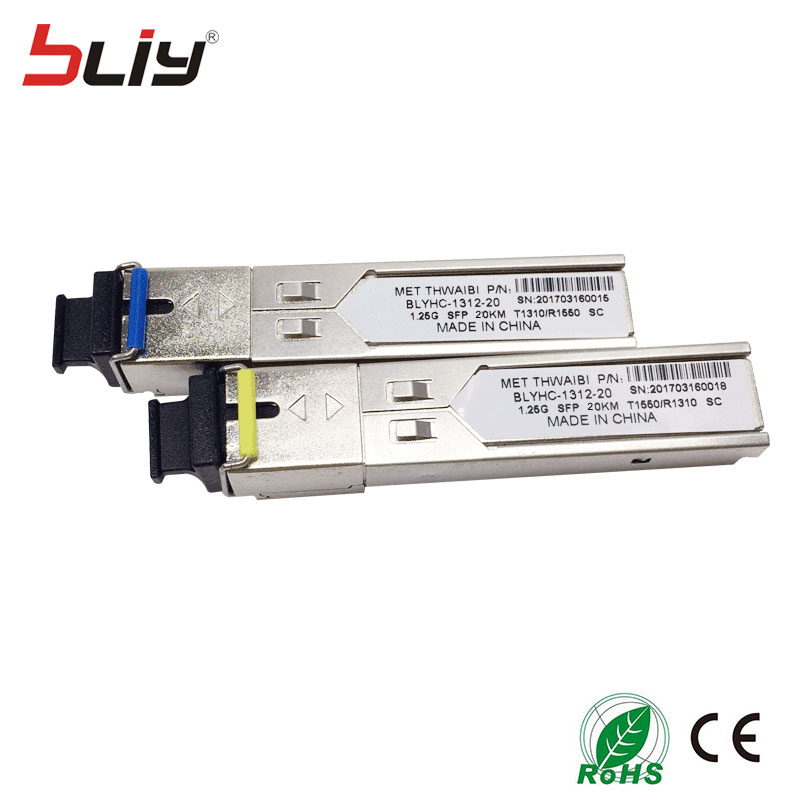 10 pcs lot SC 5KM 1 25G mini GBIC SFP switch module fibra optic transceiver SFP