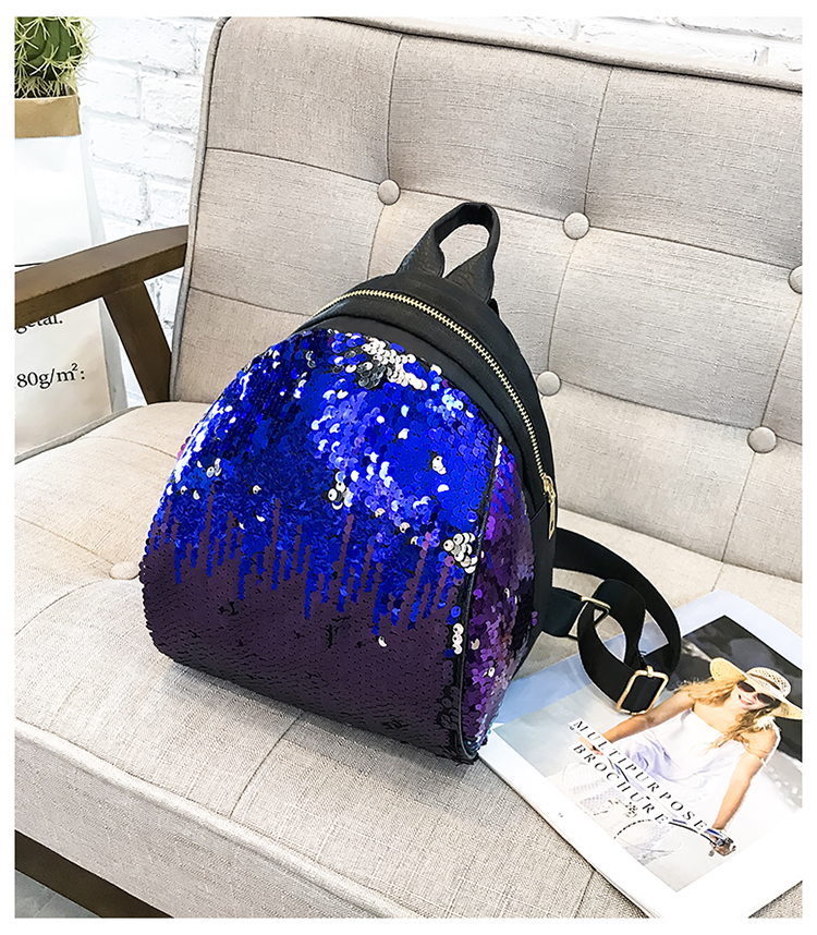 Backpacks women Korean mini 2018 new sequined shell fashion trend women go with small backpacks travel backpack 94