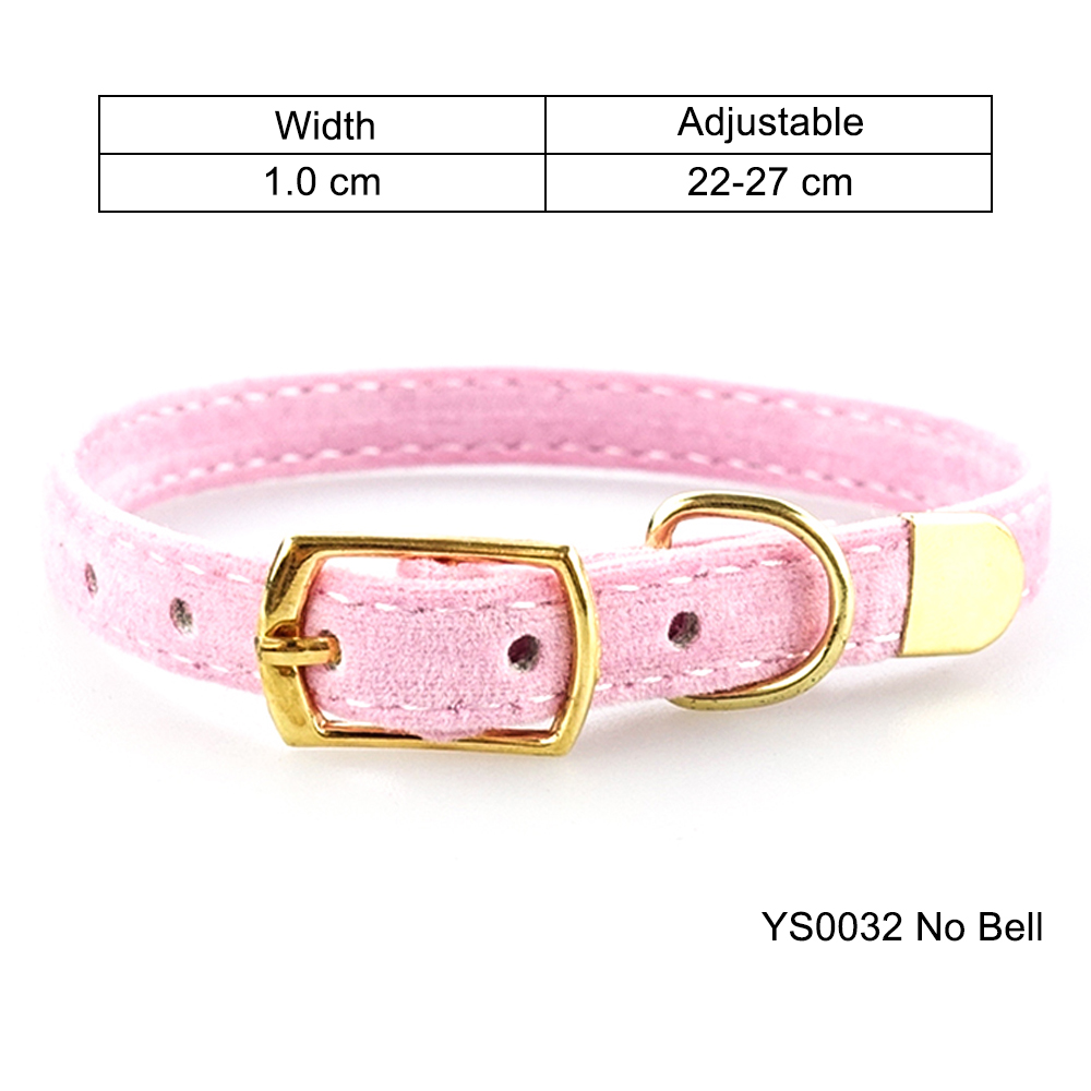 Solid Cat Collar With Bell Safety Cat Collars Adjustable Puppy Dog Collar For Small Dogs Cats Kittens Pet Collar Products YS0032 (20)