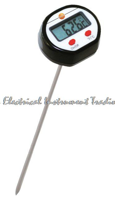 Fast arrival TESTO mini thermometer with extended penetration probe +250C digital handheld