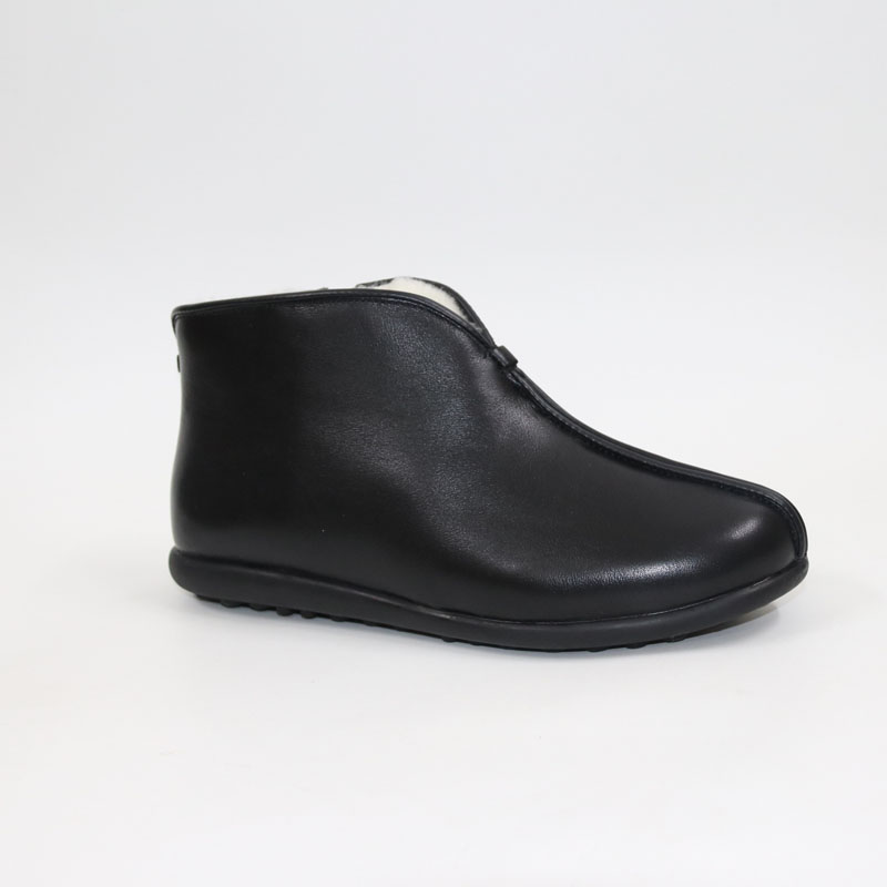 New high-end leather + wool leather boots shoes together to keep us warm and comfortable Men's big gauge wool boots Men's wool s gretel wool boots