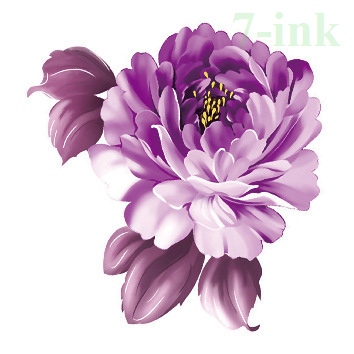 425d5ea31 CC 21 6X6cm Little flower tattoo color purple peony Temporary ...