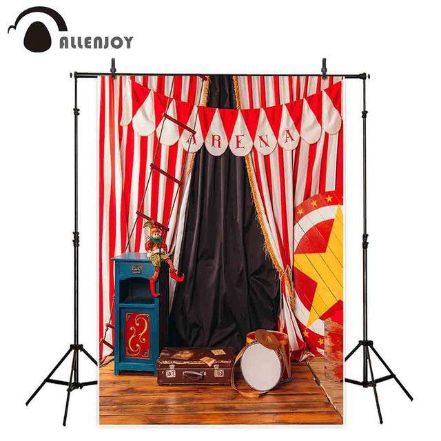 Allenjoy Thin Vinyl photograph backdrop wood floor circus birthday decorate customize camera photography backdrops photo studio