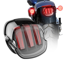Tail Light Lay Down for Harley Brake Turn Signal License Plate Light Taillight for Sportster Dyna FXDL Electra Glides Road King