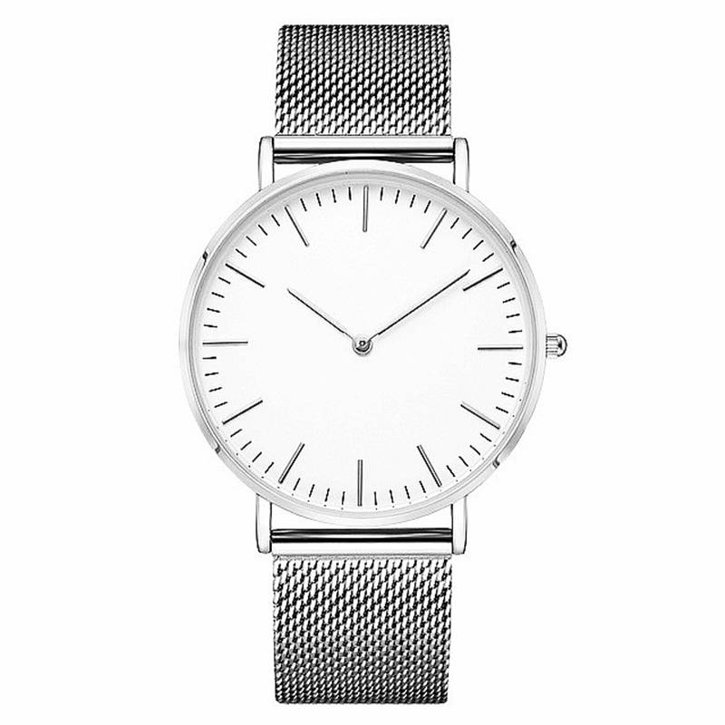 Ultra-thin Fashion Men's Watch 6.9mm Thin Men Watches Gold Silver Black Stainless Steel Male Clock Waterproof Wrist Watch 40mm A