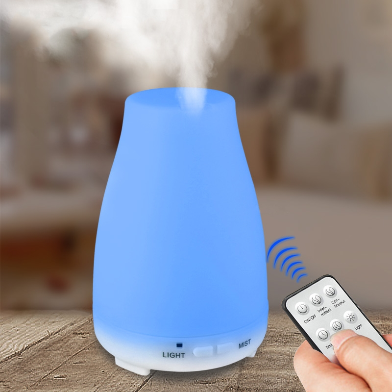 200ml Remote Control Aroma Essential Oil Diffuser Ultrasonic Air Humidifier Aromatherapy Cool Mist Maker Fogger for Home Office bm 03k 100 240v home ultrasonic essential oil aroma wood diffuser aromatherapy water humidifier mist maker fogger office 160ml