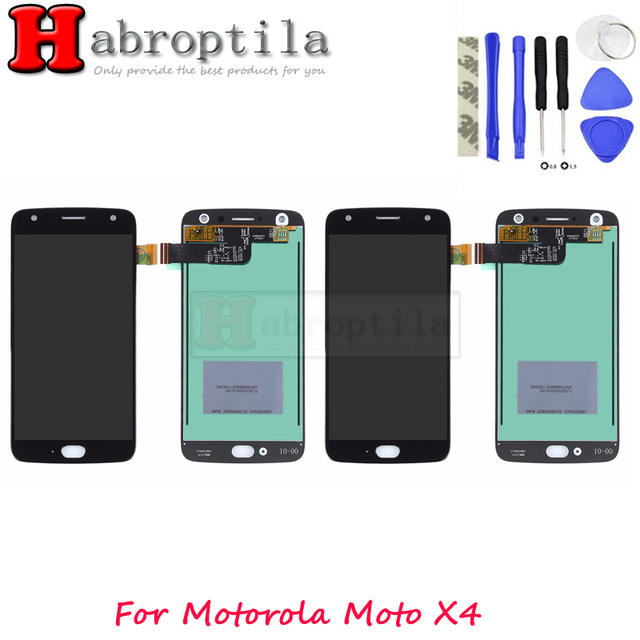 With 3M Tape+Tools For Motorola Moto X4 LCD Display+Touch Screen Digitizer Glass Panel Replacement For moto X4 LCD
