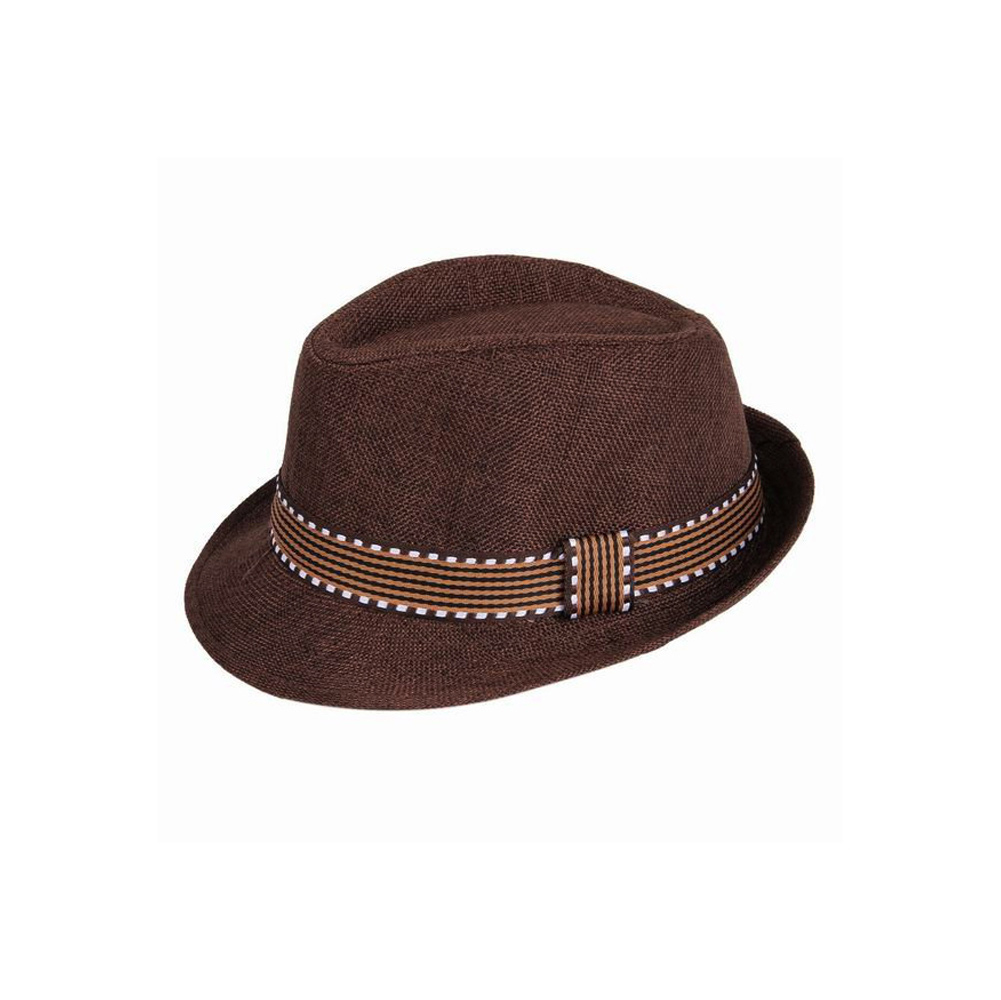 6619111f95e65 2019 nueva moda niños niño niña Unisex sombrero Fedora ribete en contraste  Cool Jazz sombrero Trilby de Chapeau en Sombreros y Gorras de Mamá y bebé en  ...