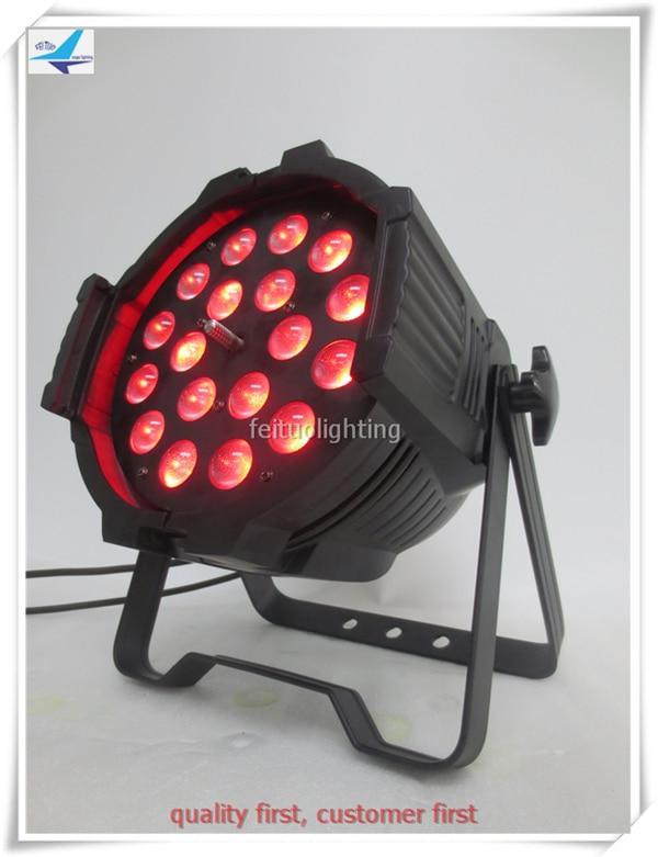 2017 Hot selling light 10xlot zoom led par 18 x 18w par led rgbwauv 6in1 disco dj stage lighting
